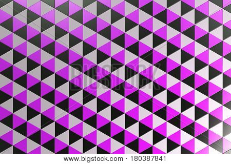 Pattern Of Black, White And Violet Triangle Prisms