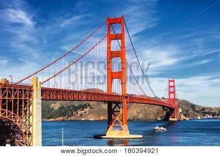 Golden Gate Bridge In San Fracisco City