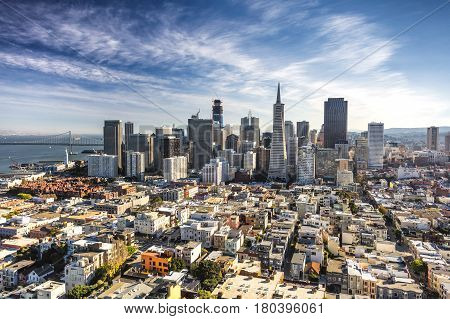 San Francisco Downtown California from the Coit Tower