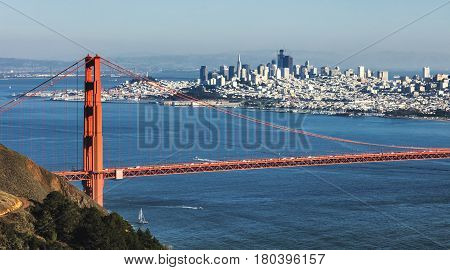 San Francisco With The Golden Gate Bridge