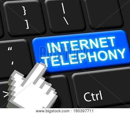 Internet Telephony Key Voice Broadband 3D Illustration
