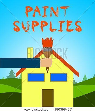 Paint Supplies Means Painting Product 3D Illustration