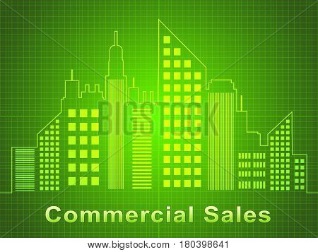 Commercial Sales Represents Real Estate Offices 3D Illustration