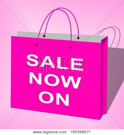 Sale Now On Message Displays Discounts 3D Illustration