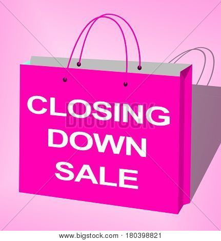 Closing Down Sale Shows Closing Bargains 3D Illustration