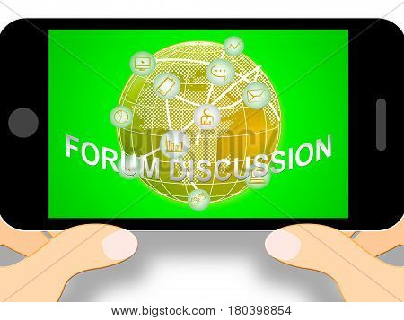 Forum Discussion Icons Showing Community 3D Illustration