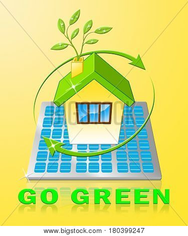 Go Green Displays Ecology Friendly 3D Illustration