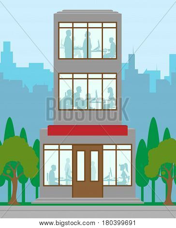 Office Building Means Financial Property 3D Illustration