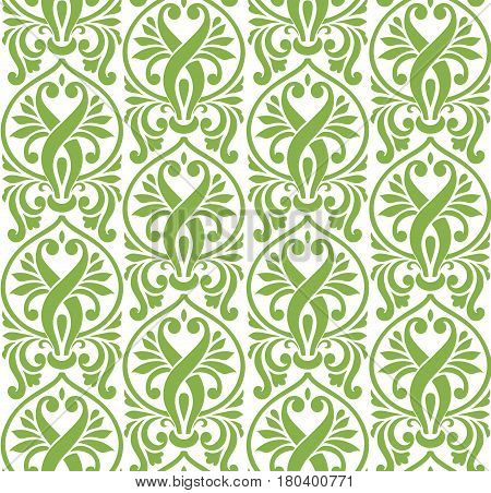 Spring color damascus seamless pattern background, vector illustration. Wallpaper design, vintage decoration