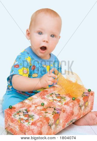 Beautiful Baby And Box-Gift