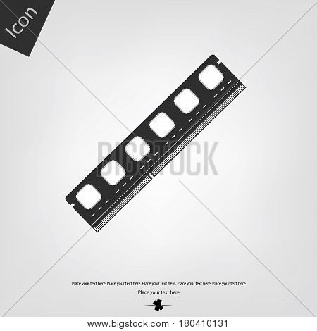 RAM vector icon, gray background. Vector illustration.