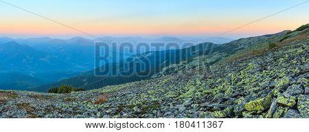 Summer Sunrise Carpathian Mountains