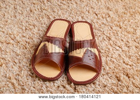 Slippers From Leather
