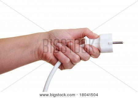 Hand With Power Plug