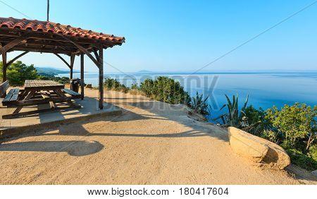 Morning Aegean Coast, Sithonia, Greece.