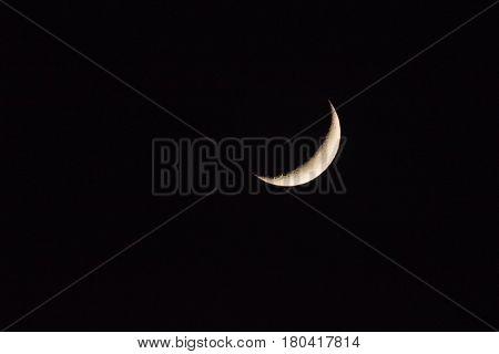moon close up moon on dark nigth.