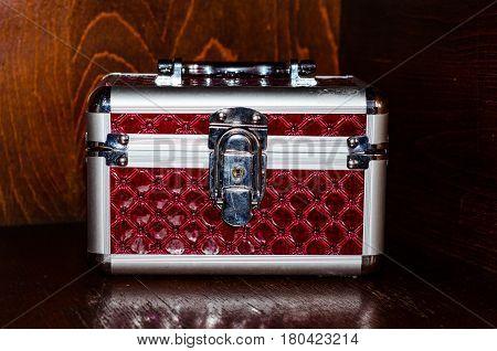 Aluminium Make-up Case Or Jewellery Accessories Box