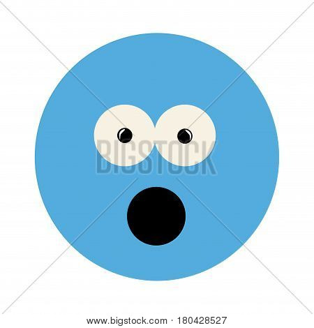colorful emoticon puzzled face expression vector illustration