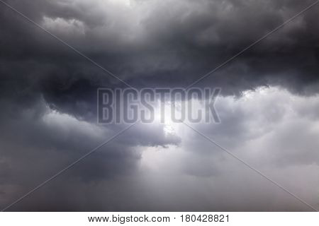 Severe Rain and Dark and Dramatic Storm Clouds