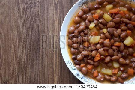 Turkish food: Cooked Kidney Beans (Barbunya pilaki)