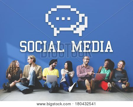 Social Media Communication Connection Concept