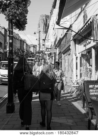Park Street In Bristol In Black And White