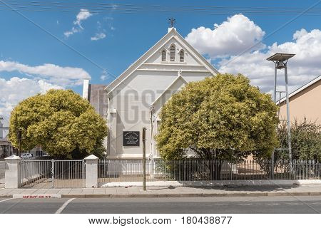MIDDELBURG SOUTH AFRICA - MARCH 21 2017: The historic old Methodist church in Middelburg a town in the Eastern Cape Province