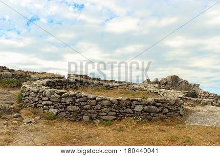 Celtic Ring At Castro De Barona, A Fort Located In A Coruna, Galicia, Spain.