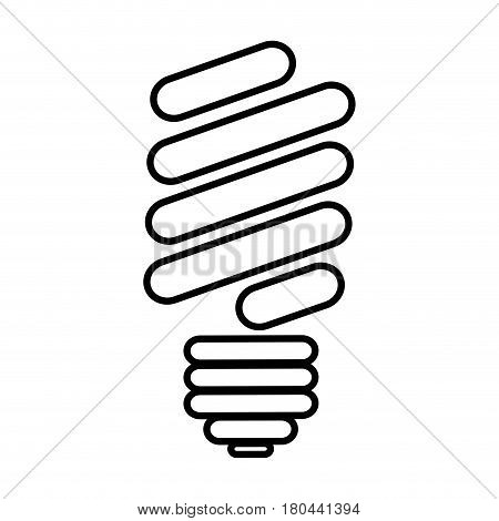silhouette of fluorescent light bulb icon vector illustration