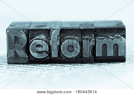 written reform in lead letters