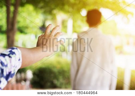 Relationship difficulties or couple problem concept background
