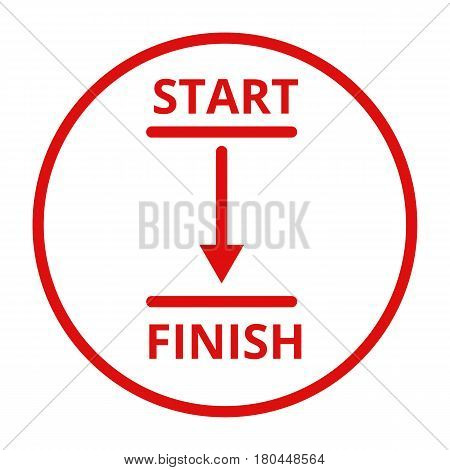 Start And Finish Line Vector Icon
