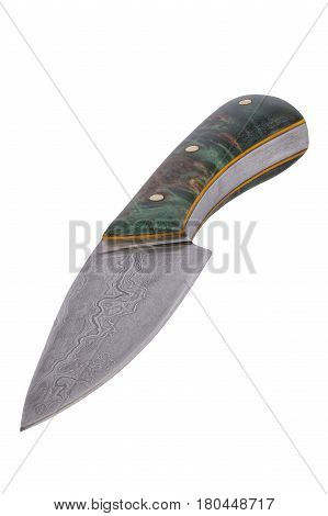 Hand-forged Knife On A White Background