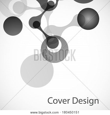 Vector biotechnology illustration. Science sesign molecule, formula, DNA.