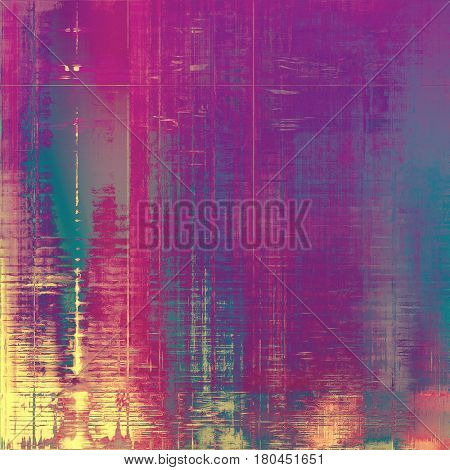Abstract retro design composition. Stylish grunge background or texture with different color patterns: yellow (beige); blue; gray; purple (violet); pink