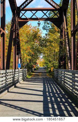 End Of Walking Bridge In The Fall