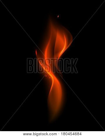 Vector Abstract Red Fire Flame on Background