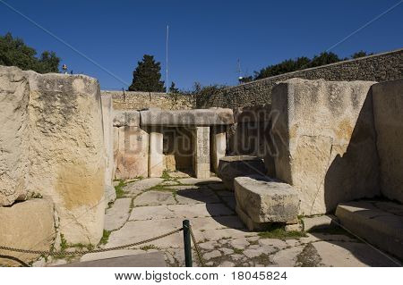 prehistoric Tarxien temples. Malta. Built approximately in 3000 B.C.