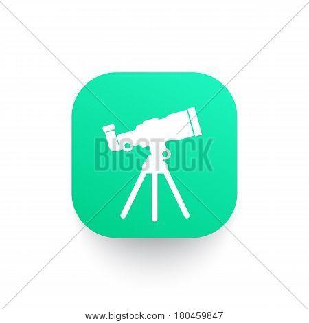 telescope, astronomy icon, eps 10 file, easy to edit