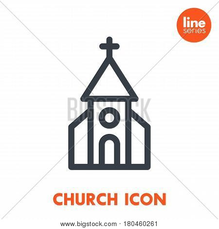 church line icon over white, eps 10 file, easy to edit
