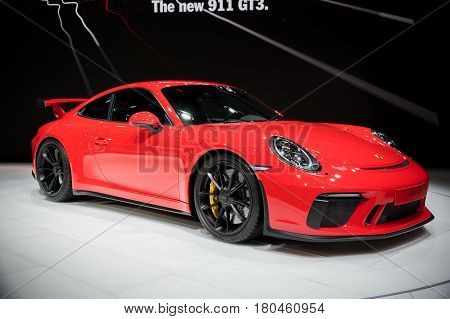 New 2018 Porsche 911 Gt3 Sportscar