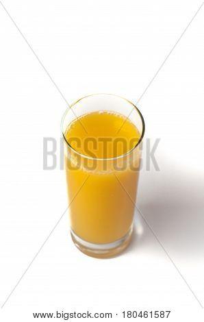 Glass Of Orange Juice Isolated Background
