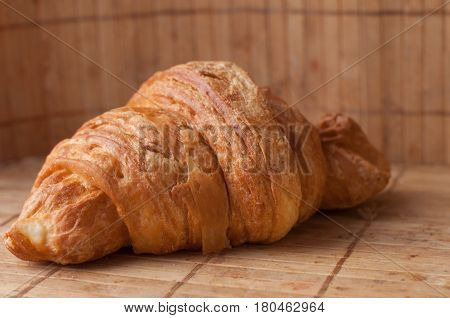 Tasty Croissants On Background