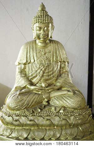 A statue of a meditating Buddha. Signify When we concentrate causing intelligence Overlooking the issues and be edited.