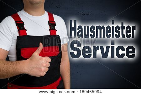 Hausmeister Service (in German Caretaker Service) Is Shown By Craftsman Concept