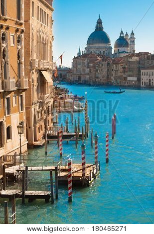 View on the famous Canal Grande in Venice, Italy