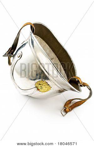 Old Fireman's Metallic Helmet