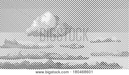Halftone bitmap lines retro background Black White Heaven Sky Clouds