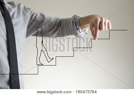 Businessman Helping Concept