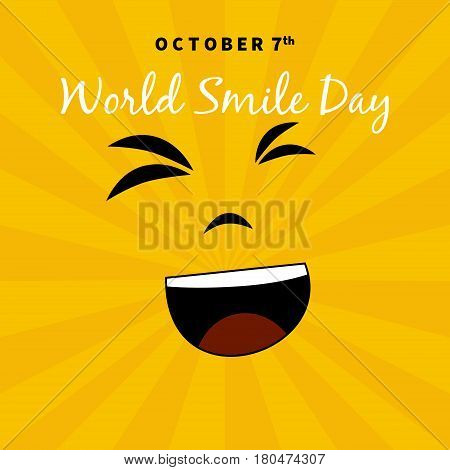 World Smile Day Illustration. Suitable for greeting cards and posters. October 7th